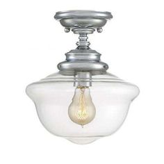 Buy the Savoy House Polished Chrome Direct. Shop for the Savoy House Polished Chrome School House 1 Light Semi Flush Mount Ceiling Fixture and save. Bathroom Ceiling Light, Glass Ceiling Lights, Semi Flush Ceiling Lights, Flush Mount Ceiling, Ceiling Fixtures, Light Fixtures, Hallway Ceiling, Upstairs Hallway, Ceiling Lighting