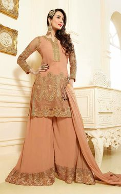 Plushy Peach Puff #Designer #Salwar Kameez