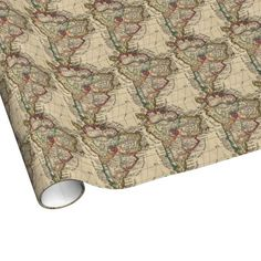 Vintage Map of South America (1747) Wrapping Paper $16.95