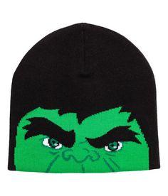 Jacquard-knit Hat | Black/Hulk | Kids | H&M US