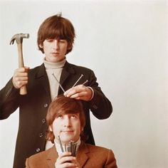 george harrison, john lennon, the beatles Ringo Starr, George Harrison, Paul Mccartney, John Lennon, The Beatles, Beatles Photos, Beatles Bible, Beatles Funny, Beetles