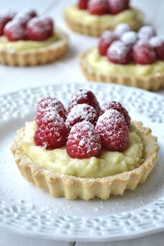 Raspberry and Vanilla Bean Cream Tarts - Delish.com