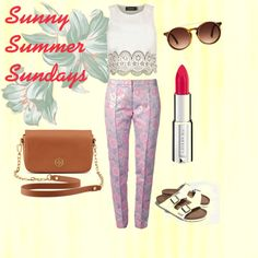 """Sunny Summer Sundays"" by daniidf on Polyvore Get The Look, Sunnies, Summer, Polyvore, Image, Fashion, Moda, Sunglasses, Fashion Styles"