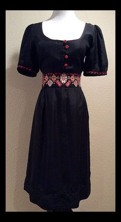 "Make OFFER ❤️ Black Anthropolgie Dress by ""Viola"" Size 6 Small | eBay"