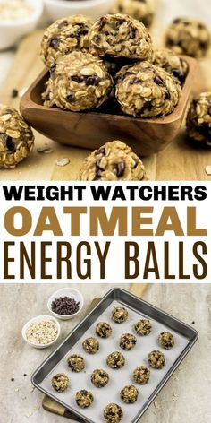 These Weight Watchers Energy Balls only have 5 ingredients and are just 1 Freestyle SmartPoint per energy bite! This is a quick recipe for busy people. #WW #weightwatchers #snacks  #energybites #oatmeal