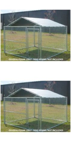 Dog Kennel Covers - ALEKO Simple Steel Galvanized Finish Chain Link Dividable Dog Kennel Roof Support Bar Only for 10 x 10 Feet Kennels * Want addiu2026  sc 1 st  Pinterest & Dog Kennel Covers - ALEKO Simple Steel Galvanized Finish Chain ...