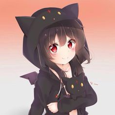 Megumin in Loli Character Art, Kawaii, Anime Cat, Neko, Kawaii Anime, Anime Characters, Anime Drawings