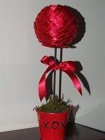 Ribbon Topiary  http://homemakinghoneys.blogspot.com/2011/01/valentines-topiary-tree.html