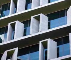 AM60, Donovan Hill Architects | Brisbane | Australia | MIMOA. Unique window treatment and oversized ledge to each floor.