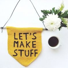 The perfect crochet banner for the craft room!