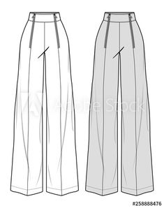 PANTS fashion flat sketch template - Buy this stock vector and explore similar v. - PANTS fashion flat sketch template – Buy this stock vector and explore similar vectors at Adobe Stock Dress Design Sketches, Fashion Design Sketchbook, Fashion Illustration Sketches, Illustration Mode, Fashion Design Drawings, Fashion Sketches, Fashion Flats, Look Fashion, Fashion Apps