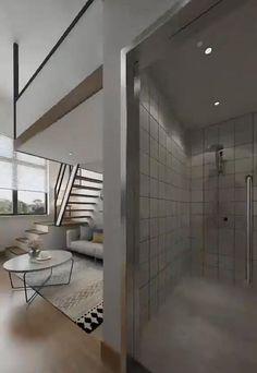 Small House Interior Design, Home Stairs Design, Small Apartment Design, Small Room Design, Home Room Design, Small Apartments, Cool Room Designs, Girl Bedroom Designs, Interior Architecture