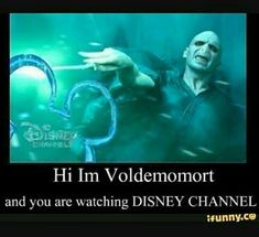 I'm Lord Voldemort from Harry Potter and the sorcerer's stone, and you are watching disney channel! Memes Do Harry Potter, Harry Potter Fandom, Harry Potter Spells List, Harry Potter Pop, Potter Facts, Lord Voldemort, Harry Potter Voldemort, Disney Channel, Harry Potter Jokes