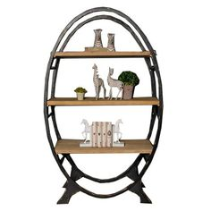 Industrial Oval - Bookcase