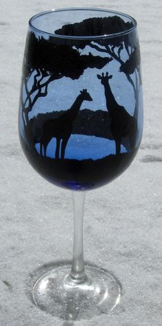 This wine glass is only one of the wine glasses that I can paint. I am able to produce designs based upon what ever you are looking for. Do you have a special theme to a certain place/ room that you just love? Do you want something that matches that theme? Well youve come to the right place!!! I can help you make your thoughts come alive on your very own custom wine glass. Check out our page and see what we have to offer. Be sure to check back often as we will be adding many more painted…