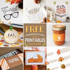 8 Pretty Thanksgiving Free Printable designs to get you into the fall spirit!