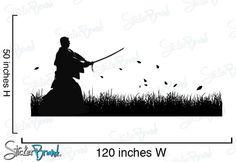 Vinyl Wall Art Decal Sticker Samurai Swordsman in by Stickerbrand, $95.00