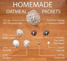 Homemade Oatmeal Packets Oatmeal plus some lightweight powdered ingredients makes a backpacking breakfast memorable Hiking Food, Backpacking Food, Camping Meals, Ultralight Backpacking, Camping Stove, Hiking Tips, Hiking Gear, Quaker Instant Oatmeal, Instant Oatmeal Recipes