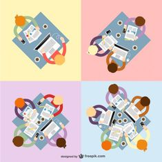 Teamwork vectors pack
