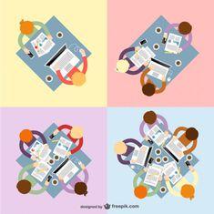Teamwork vectors pack