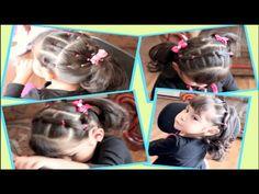 Peinado Con Ligas Facil Y Diferente Para Niña - YouTube