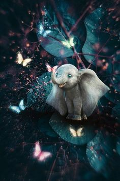 Baby elephant wallpaper by - ec - Free on ZEDGE™ Cute Wallpaper Backgrounds, Pretty Wallpapers, Disney Wallpaper, Cartoon Wallpaper, Wallpaper Awesome, Most Beautiful Wallpaper, Cute Baby Elephant, Elephant Art, Cute Baby Animals