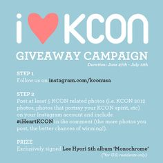 #iHeartKCON Giveaway Campaign guidelines.