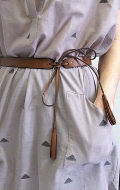 1 inch wide handmade leather tassel belt by DePalma Leather Color: Tobacco - — Leather handmade belt, 1 inch thick - — available in small, medium, large