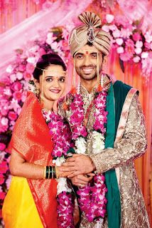 Ajinkya Rahane with wife Radhika