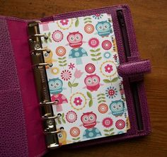 12 month dividers 'Owls' Fits filofax