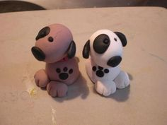 polimer clay dogs