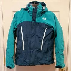 North Face 2 Piece Winter Jacket Worn for one season. Good used condition. 2 pieces. Fleece insert that can be removed. Size small. Very, very warm. Two or three of the plastic pieces attached to the zippers have fallen off. This does not impact usage of jacket.  Dog household. Non-smoking household. North Face Jackets & Coats
