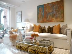 Luxuriate in the Living Room. Animal prints. Interior Designer: Cathy Triant Buxton.