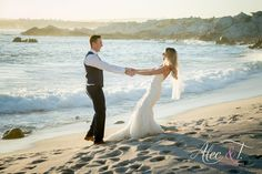 What a beautiful day! Romantic Beach Photos, Wedding Ceremony, Reception, What A Beautiful Day, Bride, Sunset, Photography, Wedding Bride, Photograph