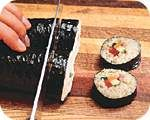Sushi in 6 easy steps.  :D