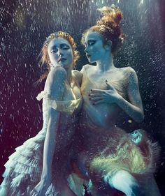 www.thealewisyates.com. underwater ladies with red hair art photo