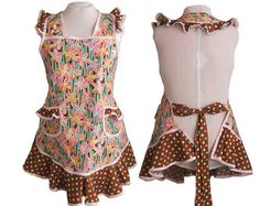 Hey, I found this really awesome Etsy listing at https://www.etsy.com/listing/152964788/apron-plus-size-tulips-and-polka-dots-in
