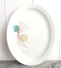 Mid century plate