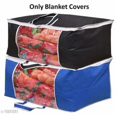 Checkout this latest Clothes Covers_0-500 Product Name: *Blanket Cover ( Pack Of 2 )* Material : Non Woven  Size ( L X B X H ) : 66 cm X 50 cm X 35 cm Ideal For : Pillows  Blankets  Sweaters  Quilts Description : It Has 2 Pieces Of Blanket Cover Country of Origin: India Easy Returns Available In Case Of Any Issue   Catalog Rating: ★4.2 (4336)  Catalog Name: Versatile Organisers Vol 17 CatalogID_253415 C131-SC1628 Code: 252-1920581-525