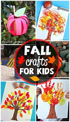 Fun Fall Crafts for Kids to Make (Find pumpkins, apples, fall trees, and more!) #Autumn | CraftyMorning.com