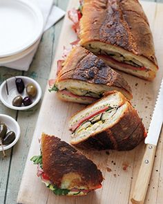 Antipasti Sandwich - pack this in your picnic basket for a huge lunchtime hit