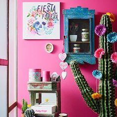 Mexican Fiesta na Primark! Mexican Home Decor, Mexican Art, Mexican Bedroom Decor, Mexican Style Homes, Mexican Decorations, Mexican Style Bedrooms, Christmas Decorations, Mexican Colors, Deco Boheme