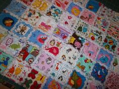 Kids I SPY Rag Quilt Pattern, Educational Toy, Easy Tutorial, pdf file with photos, Download thru Etsy