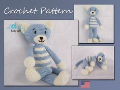 Crochet Pattern Amigurumi Cat Crochet Pattern von LovelyBabyGift