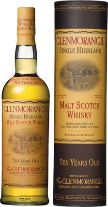 Glenmorangie - I don't drink, but always remember this as the one Chris Lambert orders in Highlander. Great name.