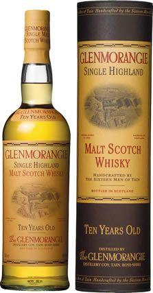 Glenmorangie single malt 10 year old scotch whiskey