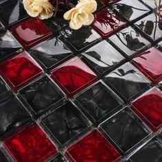 wall sticker wallpaper on sale at reasonable prices, buy Luxury Black Red glass mosaic tile kitchen backsplash bathroom shower bathtube waistline wall sticker wallpaper from mobile site on Aliexpress Now! Kitchen Mosaic, Mosaic Backsplash, Glass Mosaic Tiles, Glass Kitchen, Kitchen Backsplash, Floors Kitchen, Backsplash Ideas, Wall Tiles, Wallpaper B