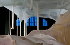 Go See – New York: Ernesto Neto's 'anthropodino' inaugurates the Park Avenue Armory's Drill Hall Commission Fabric Installation, Mother Courage, Installation Architecture, Creators Project, Park Avenue, Artsy Fartsy, Canopy, Photo Galleries, Art Gallery