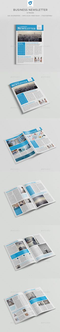 Business Newsletter Vol III Print templates, Business and Printing - company newsletter template free