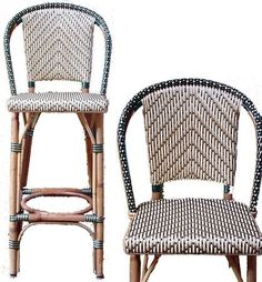 Attractive French Bistro Bar Stool Authentic French Bistro Rilsan Amp Rattan Bar Stools Bar Stools